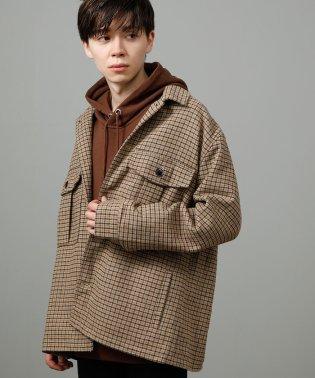 【WEB別注】ウールチェックシャツジャケット