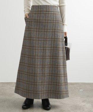 【WEB限定】ウールチェックマキシスカート