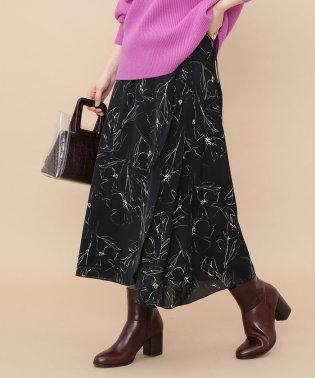 ウエストリボン付ラップスカート