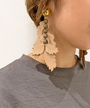 THE Dallas(ザ・ダラス)  leather shadow earring / レザー シャドウ イヤリング /D9A-65