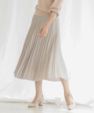 キラキラバックサテン変形プリーツスカート