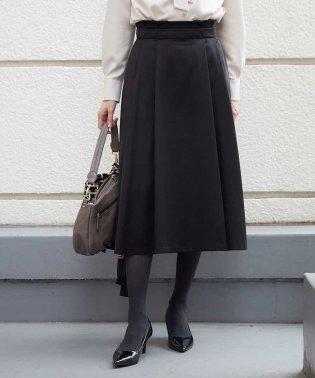 【セットアップ対応/洗える】フレンチツイルタックフレアスカート