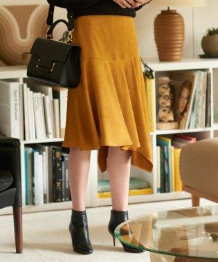 【EPOCA THE SHOP】カラーフェイクスエードスカート