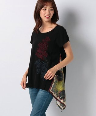 WOMAN WOVEN BLOUSE SHORT SLEEVE