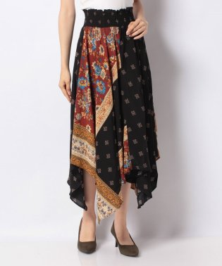 WOMAN WOVEN SKIRT LONG