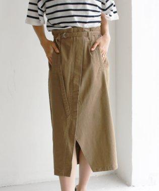 ベルト付きストレッチスカート