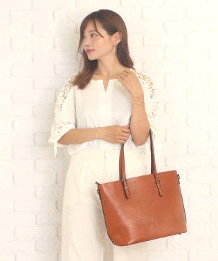 2wayトートバッグ韓国ファッションレディース肩掛けオシャレ大容量PU【vl-5217】