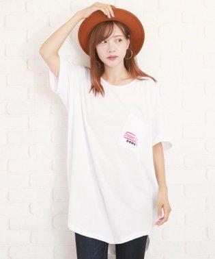 ビッグロングTシャツ韓国ファッションレディースゆったり通気性カワイイ動きやすい【vl-5225】【S/S】