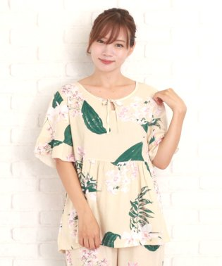 ゆったりリラックスパジャマ韓国ファッションレディース通気性動きやすいカワイイさらさらルームウエア 部屋着【vl-5248】【S/S】