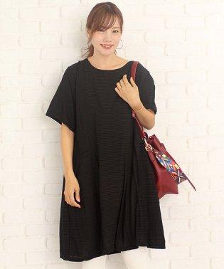 シックボーダーワンピース韓国ファッションレディース上品シンプル大人通気性【vl-5252】【S/S】