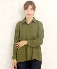 ゆったりロングシャツ韓国ファッションレディース通気性動きやすい上品ふんわり【vl-5258】【S/S】