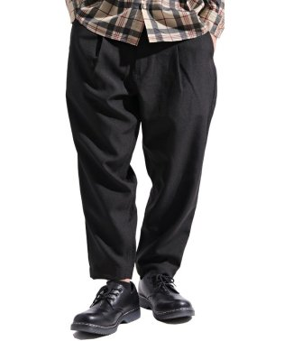 【Valletta】 ポリトロワイドテーパード9分丈パンツ[912s9201] ワイドパンツ テーパードパンツ スポーツ スラックス アンクルパンツ