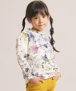 (3.0cm) 花柄 プルオーバー トレーナー  「 子供服 キッズ 女の子 女児 子ども 100 110 120 130 140 cm 長袖 トップス カット