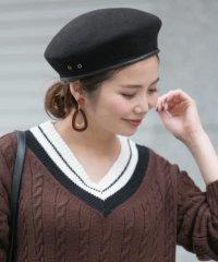 パイピングウールベレー帽