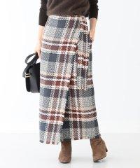 Demi-Luxe BEAMS / チェックツイード ラップスカート