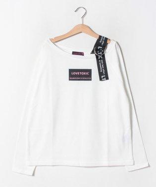 ワンショルダーロゴTシャツ