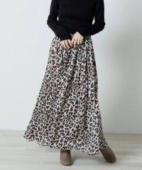 レオパード柄マキシスカート