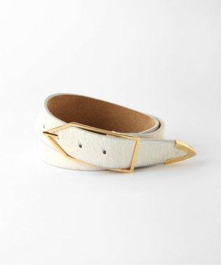 【COCO SANDS】White Hair Leather Belt / ホワイトヘアーレザーベルト