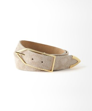 【COCO SANDS】Snake Leather Belt / スネークレザーベルト◆
