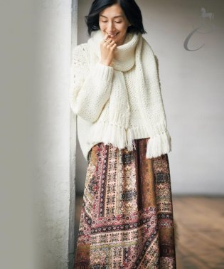 【Class Lounge】MORRIS MIXPRINT スカート(検索番号X