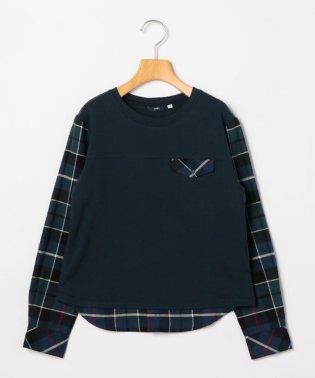 SHIPS KIDS:スウェット×シャツ コンビ トップス(145~160cm)