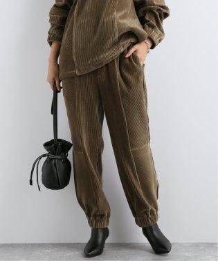 【 KINDA GARDEN / カインダ・ガーデン 】CORDUROY PANEL SWEAT PANT:パンツ
