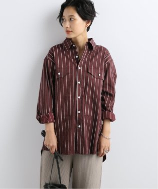 【 KINDA GARDEN / カインダ・ガーデン 】Pocket Detail Stripe Shirt:シャツ