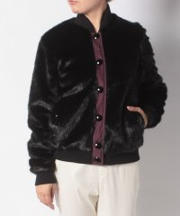 WOMENS REFINED FAUX FUR BOMBER