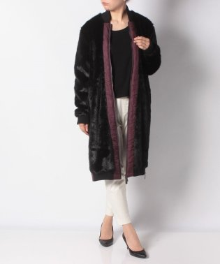 WOMENS REFINED FAUX FUR COAT