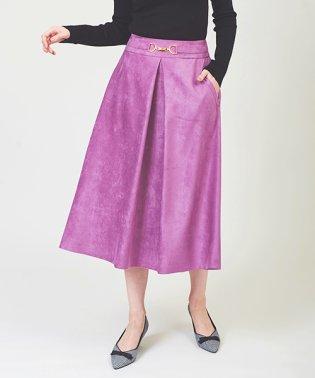 カラースウェードフレアスカート