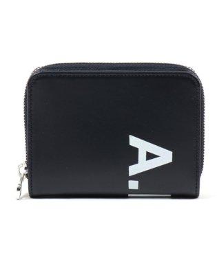 PXAWV H63295 IAK emmanuel ロゴ レザー ラウンドファスナー 二つ折り財布 ミニ財布 ダークネイビー メンズ