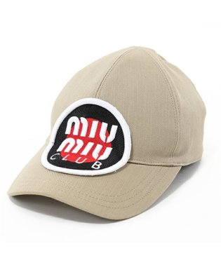 miumiu ミュウミュウ 5HC274 AJ6 F0241 DENIM ベースボールキャップ 帽子 スポーツ 立体刺繍 カラーKAKI