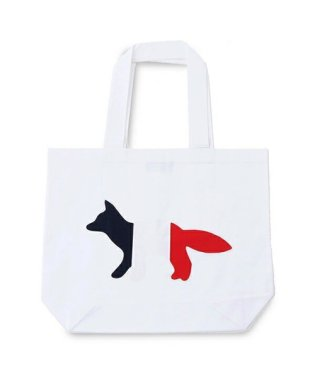 04321 AU05101WW 0007 TOTE BAG TRICOLOR FOX キャンバス トートバッグ ショッピングバッグ カラーWHITE