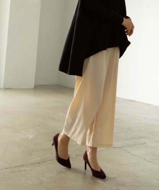 MAT SATIN WIDE PANTS