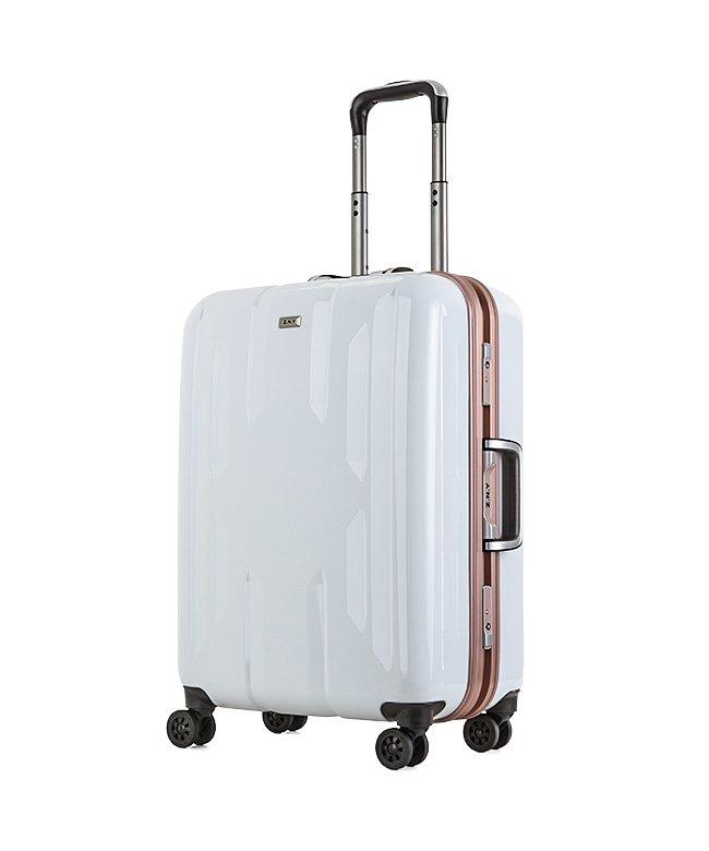 (Z.N.Y/ゼット・エヌ・ワイ)スーツケース Mサイズ 56リットル フレームタイプ TSAロック Z.N.Y ゼット・エヌ・ワイ ラウビル エース 国内旅行 海外旅行 出張 06381/ユニセックス ホワイト