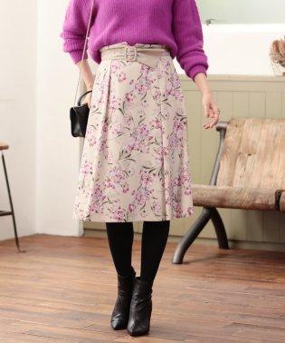 Eleganceフラワーフレアースカート