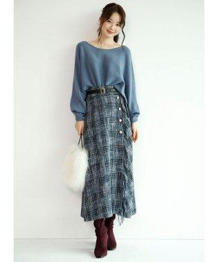 【VERY11月号掲載】チェックフリンジスカート