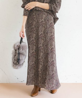 【WEB限定】ペイズリーマーメードスカート