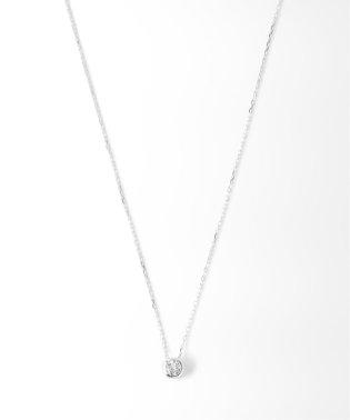 18KWG 0.1ct ダイヤモンド Fネックレス