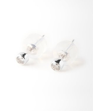 18KWG 0.1ct ダイヤモンド Fピアス