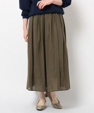 綿ボイルフレアスカート