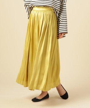 割繊サテンスカート