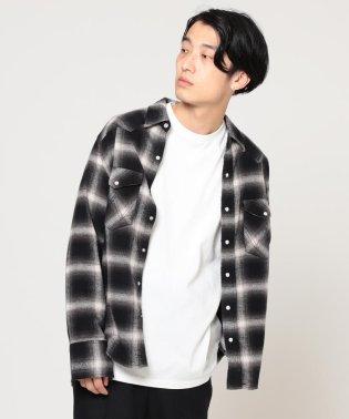 Wrangler × BEAMS / 別注 ネルチェック ウエスタン シャツ 19FW