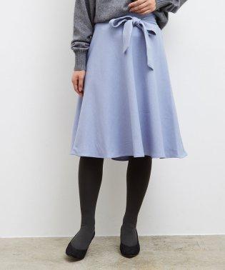 【迷ったらこの1枚!】プレミアムフィールリボン付きフレアスカート