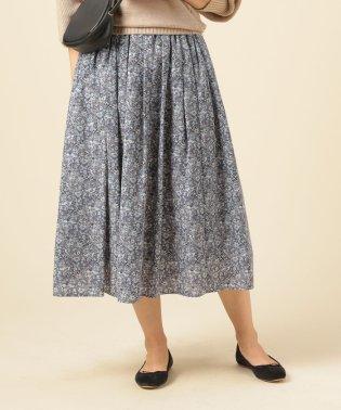 割繊デシンギャザースカート75c丈