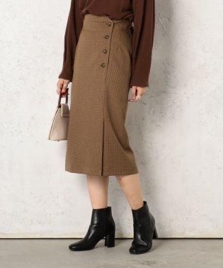 サイド釦ロングタイトスカート