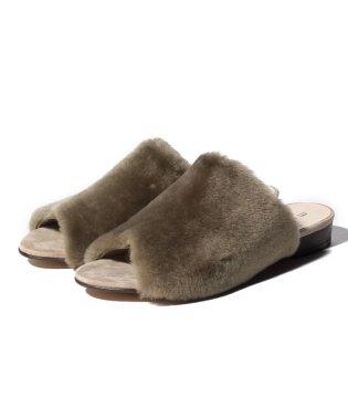 【SHIPS for women】MOHI:FUR FLAT SANDAL