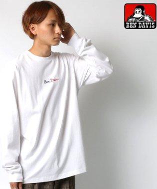【BEN DAVIS】ベンデイビス ロゴ刺繍 バックプリント 長袖Tシャツ