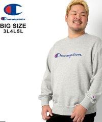 【Champion】チャンピオン 大きいサイズ ロゴ 裏毛 トレーナー