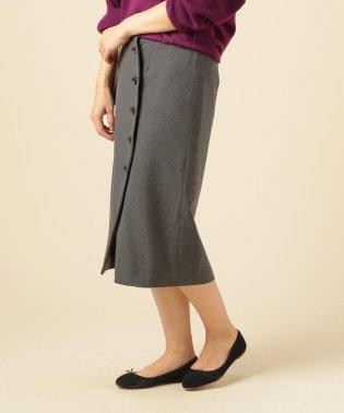 チェック巻きスカート